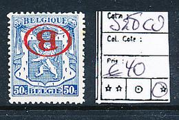 BELGIQUE BELGIUM COB S28CU INVERTED LH - Officials
