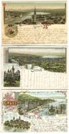 3 Gruss Aus ZÜRICH 1898-1902 Gute Frankatur, - ZH Zürich