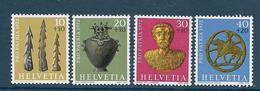 Timbre Neuf** De Suisse, N°901-4 Yt , Pro Patria, Découvertes Archéologiques, Harpons, Buste En Or , Vase à Hydre - Suisse