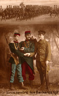 Guerre De 1914 - Unis Contre Les Barbares -  Carte Patriotique De 1914 - Bon état - 2 Scans - Patriotiques
