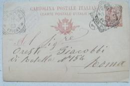 CASCINA - CARLO RUCCINI TORNITORE DEPOSITO DI GUARNIZIONI FORNITE PER MOBILI - TIMBRO SU CARTOLINA POSTALE 1903 - Pisa