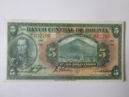 Bolivia 5 Bolivianos 1928 Banknote UNC - Nicaragua