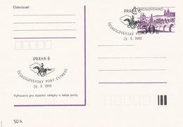 I0546 - Tschechoslowakei (1990) Praha 6: Tschechoslowakischer PONY EXPRESS - Post