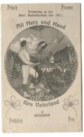 Oberland Bezirksturnfest Juni 1911 MIT HERZ Und HAND Fürs Vaterland In Unterseen Bei Interlaken Off. Festpostkarte - BE Berne