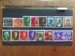 OCCUPAZIONE DELL'ALBANIA 1939/42 - Lotticino 15 Valori Timbrati (1 Valore *) + Spese Postali - 9. Occupazione 2a Guerra (Italia)