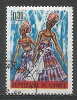 Guinea 1966. Scott #406 (U) Dancing Girls, Lower Guinea * - Guinée (1958-...)
