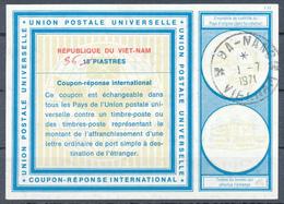 VIETNAM - 1971 , Vi19 ,  36  Auf  15 PIASTRES  -  Reply Coupon Reponse , IRC , Antwortschein - Viêt-Nam