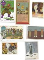 CHOCOLAT MAGNIEZ BAUSSART LOT DE 7 CHROMOS IMAGES ANCIENNES - Sonstige