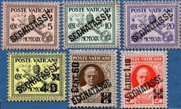 Vatican 1931 Postage Due Segnatasse Overprints , 6 Values MH - Nearly MNH - Vatican