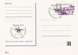 I0543-47 - Tchécoslovaquie (1990) Poney Express Tchécoslovaque (5 Pièces); Cachet Commémoratif - Post