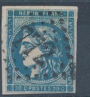 N°45 BORDEAUX BLEU FONCE - 1870 Ausgabe Bordeaux