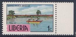 Liberia 1977 Mi 1042 SG 1284 ** Mano River Bridge (road) - Liberian Products / Brücke - Auto - Wirtschaft In Liberia - Auto's
