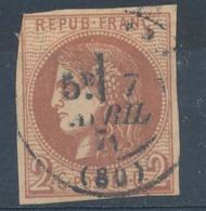 N°40 CHOCOLAT BORDEAUX C.A.D. - 1870 Emission De Bordeaux