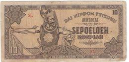 Ten Roepiah/ Dai Nippon Teikoku Seihu/Indonésie Occupation Japonaise/1944                  BILL186bis - Japan