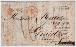 1843, Hamburg, Schiffsbrief -Stempel ,Feuser € 200,-  R!!   , #a1733 - Hamburg