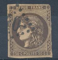N°47 BRUN NOIR - 1870 Uitgave Van Bordeaux