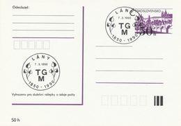 I0548 - Tchécoslovaquie (1990) Lany: TGM - Tomas Garrigue Masaryk (1850-1937) 140ème Anniversaire De Naissance - Célébrités