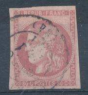 N°49  BORDEAUX ROSE PALE - 1870 Emission De Bordeaux