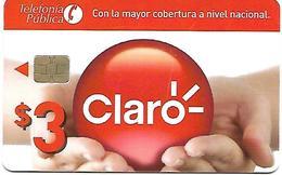 """@+ Equateur à Puce - Rare Carte """"Claro"""" $3 - Ecuador"""