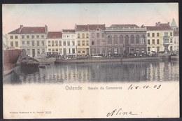 CPA ** OOSTENDE - OSTENDE --  BASSIN DU COMMERCE In Kleur ! Edit Hoffmann 1903 - Oostende