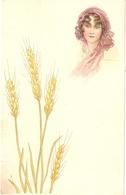 """Pretty Lady. Whet Ears· Nic Antique Italian Postcard - Mujeres"