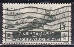 Regno D'Italia, 1934 - 15c Medaglie Al Valor Militare - Nr.367 Usato° - 1900-44 Vittorio Emanuele III