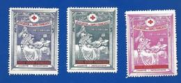 3 Vignettes  Association Des Dames Françaises Croix Rouge Française - Erinnophilie