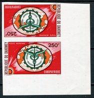 1968- DAHOMEY -EUROPE/AFRIQUE - 2 VAL.IMPERF.TETE BECHE - M.N.H. -LUXE ! - Bénin – Dahomey (1960-...)