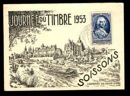 Journée Du Timbre 1953 - SOISSONS - L'Arrivée Du Coche D'Eau 1783 - Journée Du Timbre