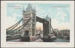 Horniman's Pure Tea - Tower Bridge, London, C.1905 - Frankel Postcard - Advertising