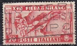 Regno D'Italia, 1936 - 20c Fiera Di Milano - Nr.394 Usato° - 1900-44 Vittorio Emanuele III