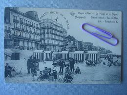 HEIST : La Digue, La Plage Et Le Grand Hôtel En 1912 - Heist