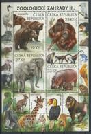 Czech Republic 2018 Nature : Zoological Gardens, Zoo, Fauna, Elephants, Monkeys - Blocs-feuillets