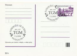I0549 - Tchécoslovaquie (1990) Hodonin 1: TGM - Tomas Garrigue Masaryk (1850-1937) A Contribué à L'état - Célébrités