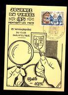 Journée Du Timbre 1971 - MONTIGNY LES METZ - 25e Anniversaire Du Club Philatélique - 1946-1971 - Día Del Sello