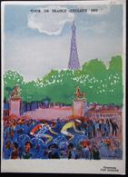 CARTE POSTALE OFFICIELLE TOUR DE FRANCE 1955 ILLUSTRATION VAN DONGEN - Cyclisme