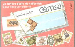 Buvard Cémoi Chocolat Cémoi Un Timbre-poste Dans Chaque Tablette - Chocolat