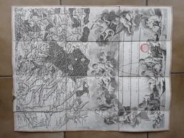 Carte Du Dépôt Général De La Guerre - Secteur Valenciennes Maubeuge Bavay Solesmes Semousies Locquignol Parc Avesnois - Geographical Maps