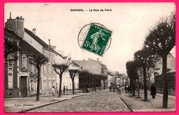 Sannois - La Rue De Paris - Attelage - Animée - Edit. BLONDET - 1909 - Sannois