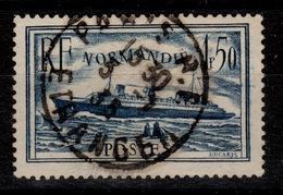 YV 299 Bien Oblitere Paris Etranger , Paquebot Normandie - Used Stamps