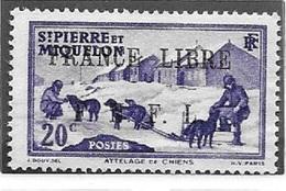 SAINT PIERRE ET MIQUELON N° 252 - FRANCE LIBRE FNFL - NEUF (*) - Unused Stamps