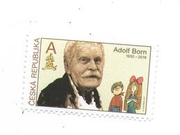 Year  2019 - Ilustrator And Artist Adolf Born,  1 Stamp, MNH - Tchéquie