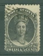 Nova Scotia: 1860/63   QV      SG29    12½c    Black    Used - Nova Scotia