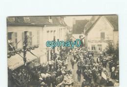 21 - ARNAY LE DUC - CARTE PHOTO Fanfare - Boulanger Maillot - Place Craquelin Et 16 Rue Du Collége - Arnay Le Duc