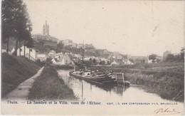 Thuin - La Sambre Et La Ville , Vues De L'Eglise - 1902 - Thuin