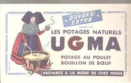 Buvard UGMA Les Potages Naturels UGMA Potage Au Poulet Bouillon De Boeuf à UNGEMACH - Soups & Sauces