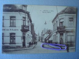 HEIST :  Rue De L'église Et Le Café De Pierre CLAEYS En 1921 - Heist