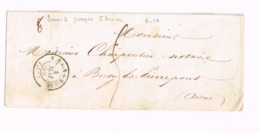 """Enveloppe De Trouy-sur-Meuse à Bucy-les-Pierrepont (Aisne). """"Lille à Quiévrain"""",""""Notre Dame De Liesse"""" - Marcophilie (Lettres)"""