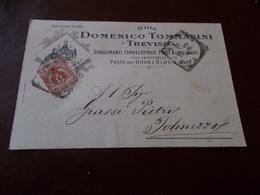 B711  Intero Postale Da Treviso A Tolmezzo Domenico Tommasini Paste All'uovo - 1900-44 Vittorio Emanuele III