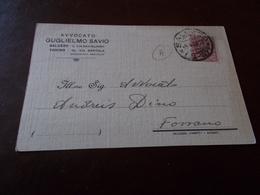 B711  Intero Postale Avvocato Guglielmo Savio Da Saluzzo A Fossano - 1900-44 Vittorio Emanuele III